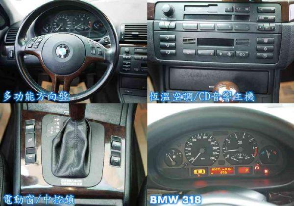 BMW 318I 02年 2.0黑 照片6