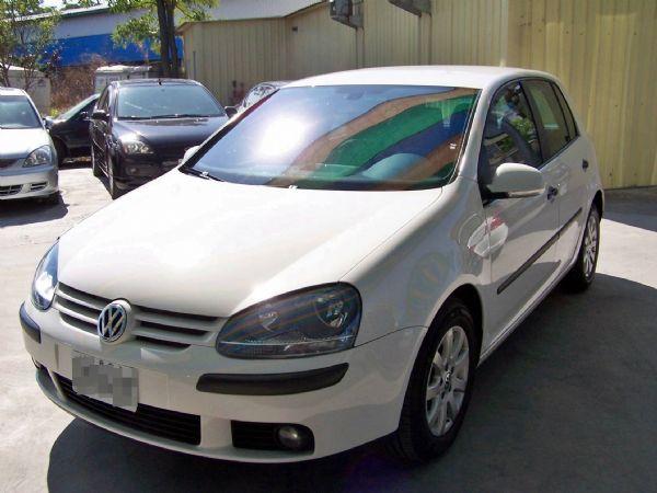 VW 福斯 GOLF 04年 1.6白 照片1