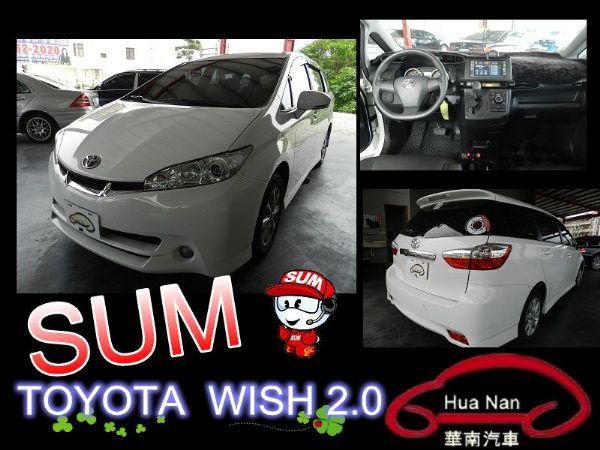 Toyota 豐田 WISH 白 2.0 照片1