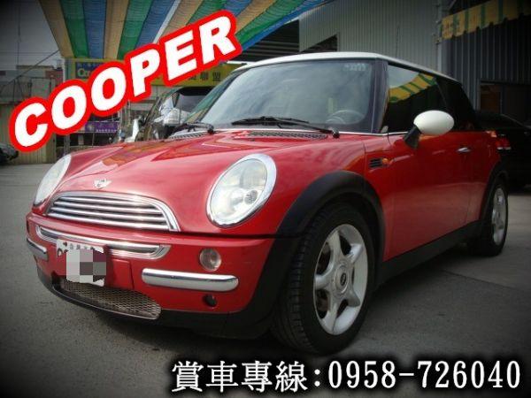 MINI COOPER 03年式1.6紅 照片1