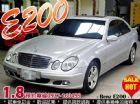 台中市2005 BENZ E200K 1.8 BENZ 賓士 / E200中古車